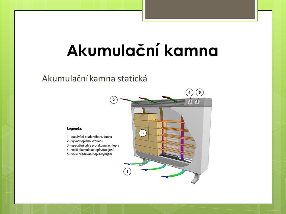 Akumulační kamna Akumulační kamna statická