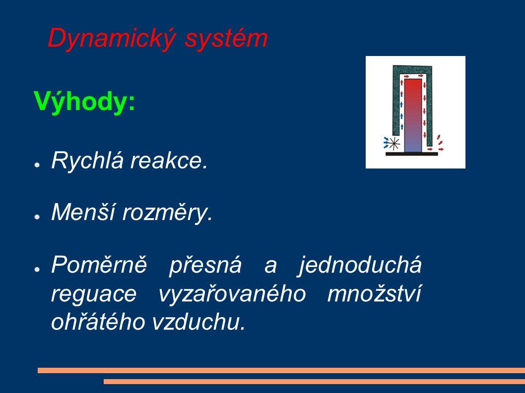 Dynamický systém Výhody: ● Rychlá reakce. ● Menší rozměry.