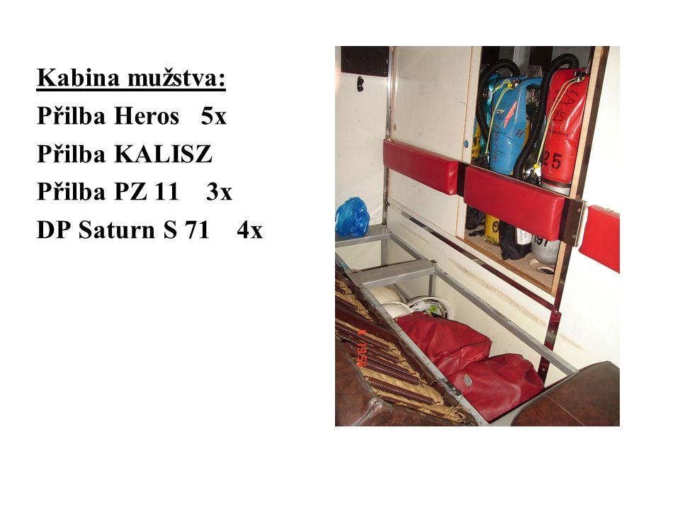 Kabina mužstva: Přilba Heros 5x Přilba KALISZ Přilba PZ 11 3x DP Saturn S 71 4x