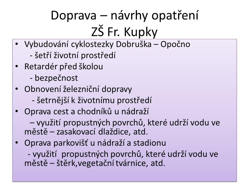Doprava – návrhy opatření ZŠ Fr.