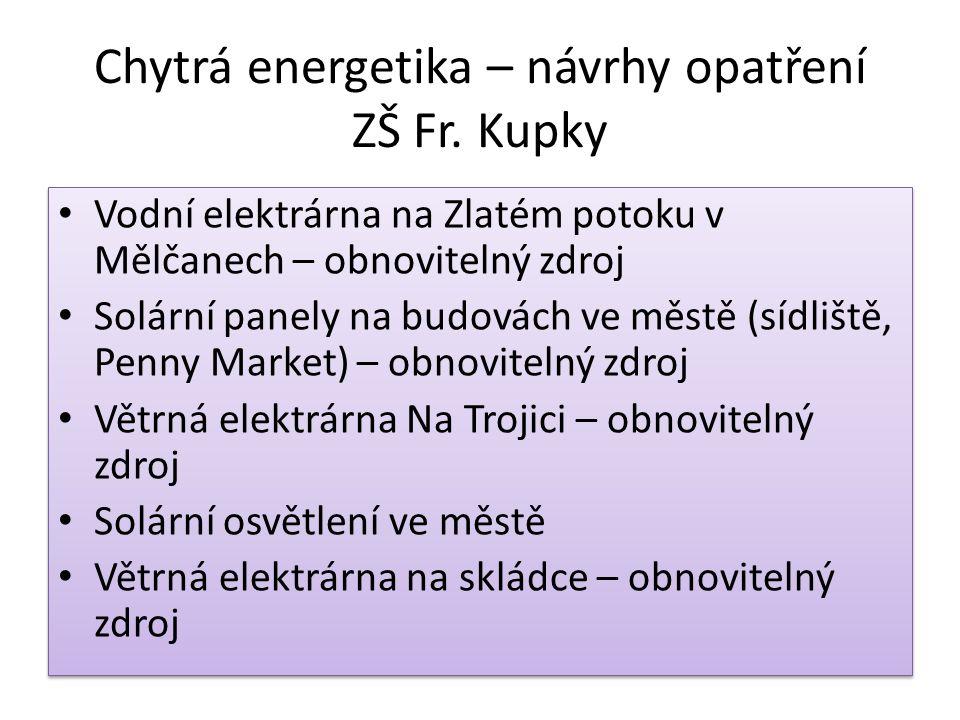 Chytrá energetika – návrhy opatření ZŠ Fr.