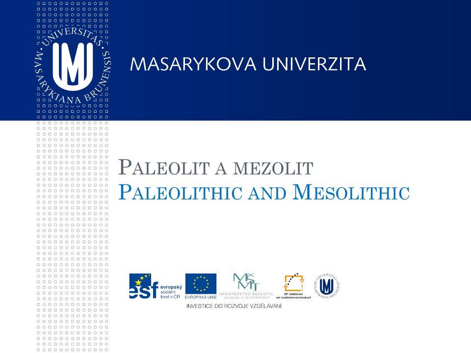P ALEOLIT A MEZOLIT P ALEOLITHIC AND M ESOLITHIC