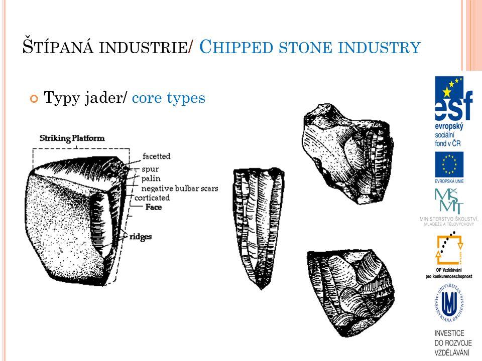 Typy jader/ core types Š TÍPANÁ INDUSTRIE / C HIPPED STONE INDUSTRY