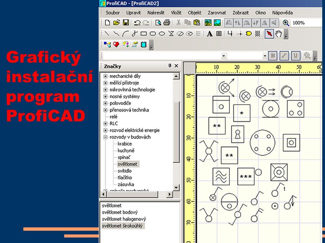 Grafický instalační program ProfiCAD