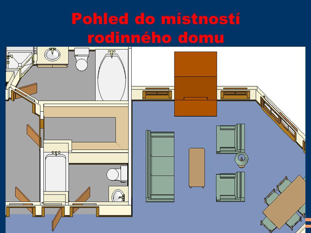 Pohled do místností rodinného domu