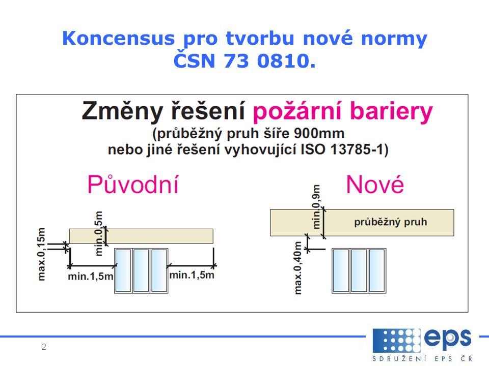 2 * Koncensus pro tvorbu nové normy ČSN 73 0810.
