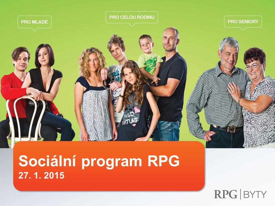 Sociální program 12  Podpora seniorů 2010 – Sleva na nájmu pro seniory nad 60 let (14 000 domácností; 40 mil.