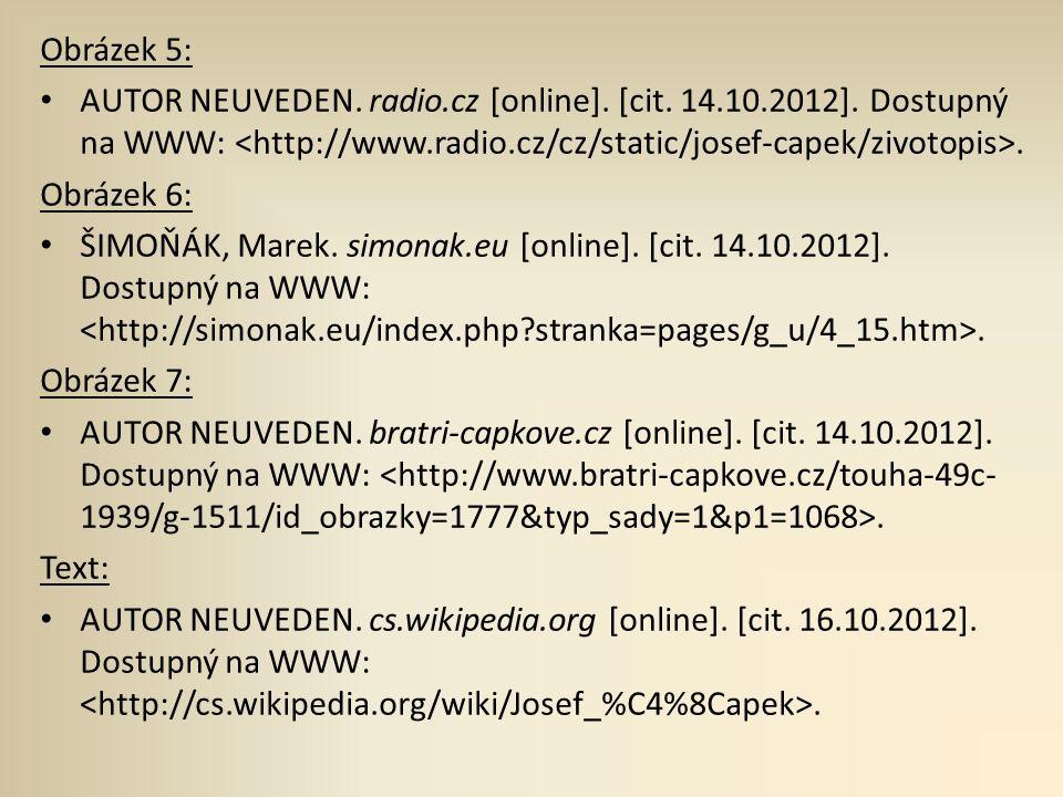 Obrázek 5: AUTOR NEUVEDEN. radio.cz [online]. [cit.