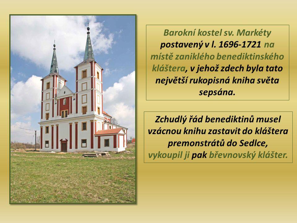 Barokní kostel sv.Markéty postavený v l.