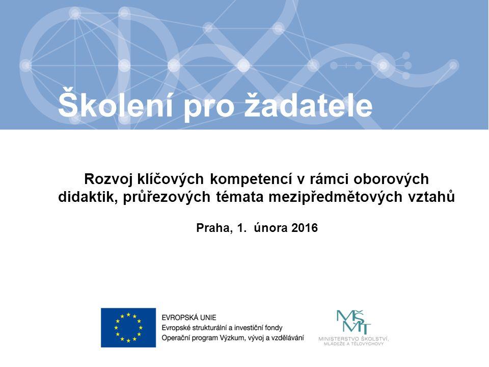 Název kapitoly Název podkapitoly Text Rozvoj klíčových kompetencí v rámci oborových didaktik, průřezových témata mezipředmětových vztahů Praha, 1.