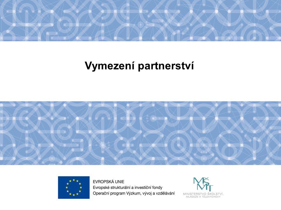 Název kapitoly Název podkapitoly Text Vymezení partnerství