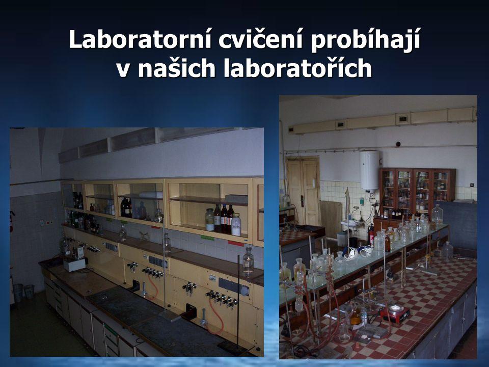Laboratorní cvičení probíhají v našich laboratořích