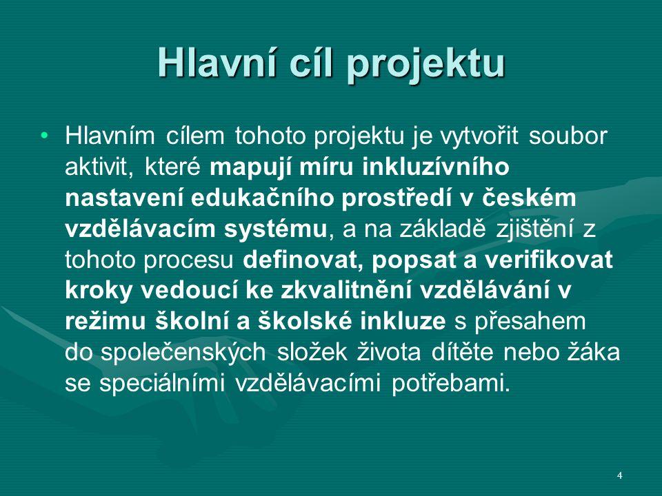 KA 01 KA 01 Identifikace krizových míst proinkluzivního nastavení českého školského prostředí CÍL KA 01 Cílem této klíčové aktivity je analyticko komparativní zmapování českého školského prostředí.