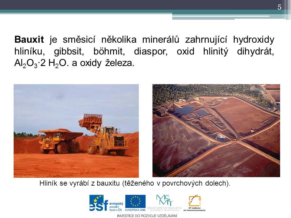6 Výroba hliníku Při výrobě oxidu hlinitého z bauxitu je potřeba projít poměrně složitým výrobním postupem.