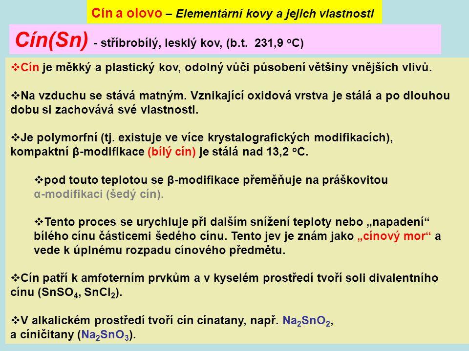 obsahují kation Sn 2+.