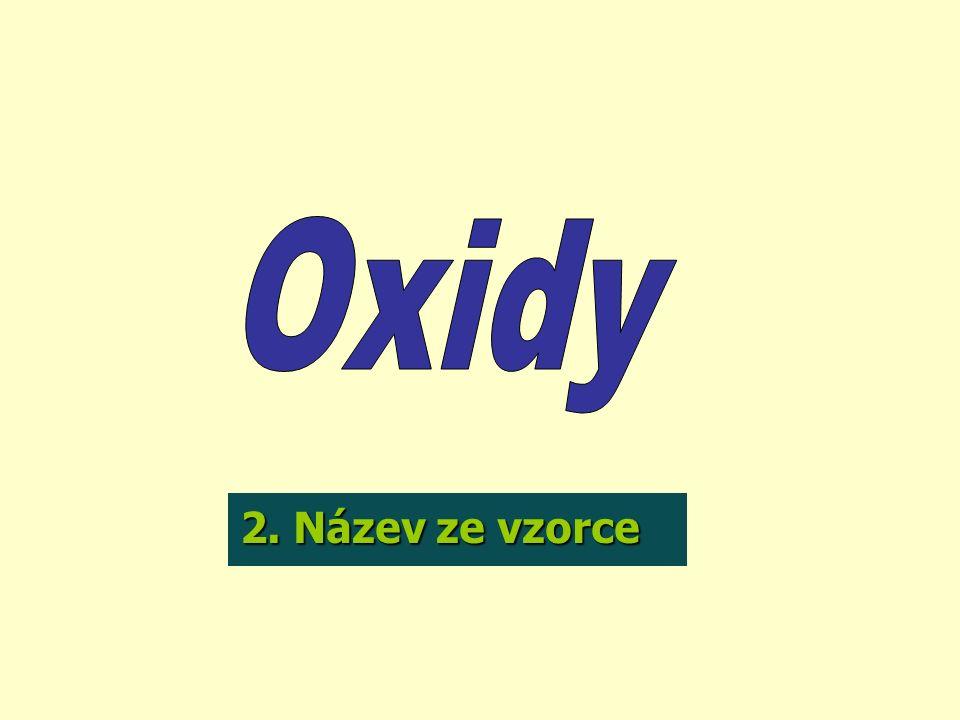 -je náboj, který zdánlivě mají jednotlivé atomy v molekule sloučeniny Prvek ve sloučenině má dané oxidační číslo.