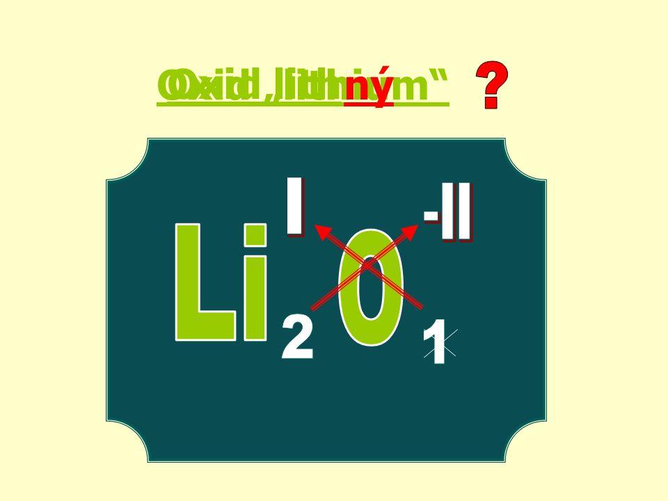 "Oxid ""lithium ný Oxid lith"