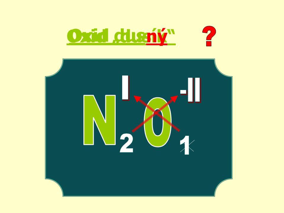 "Oxid ""dusík ný Oxid dus"