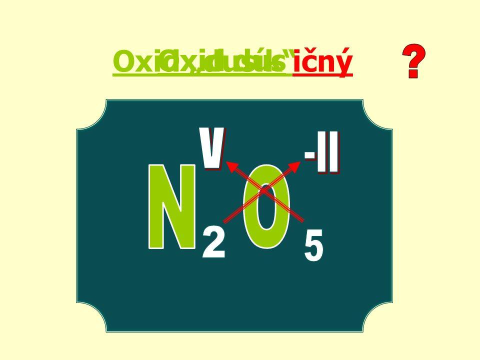 """Oxid """"dusík ičný Oxid dus"""