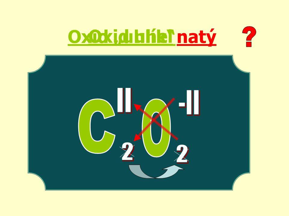 """Oxid uhel Oxid """"uhlík natý"""