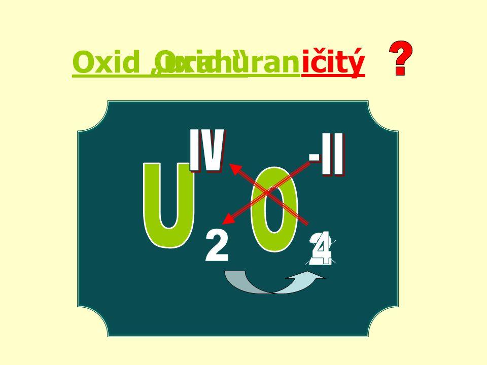 "Oxid ""uran ičitýOxid uran"