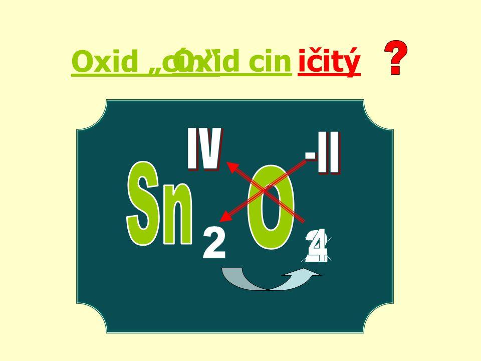 """Oxid """"cín ičitýOxid cin"""