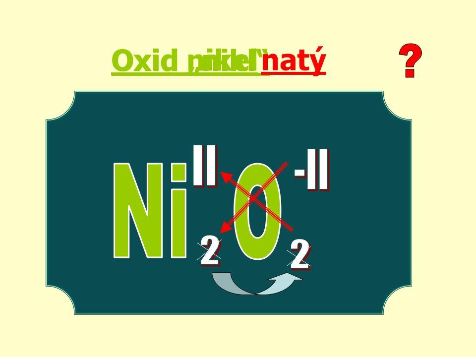 """Oxid nikel Oxid """"nikl natý"""