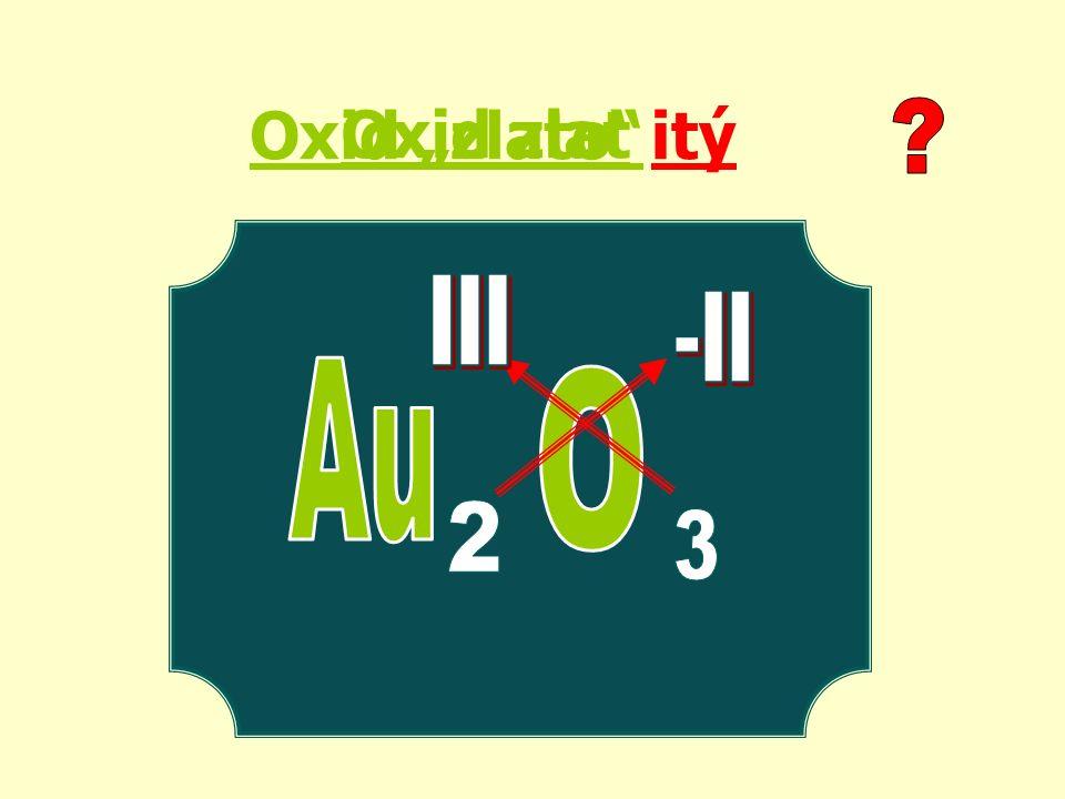 """Oxid """"zlato itý Oxid zlat"""