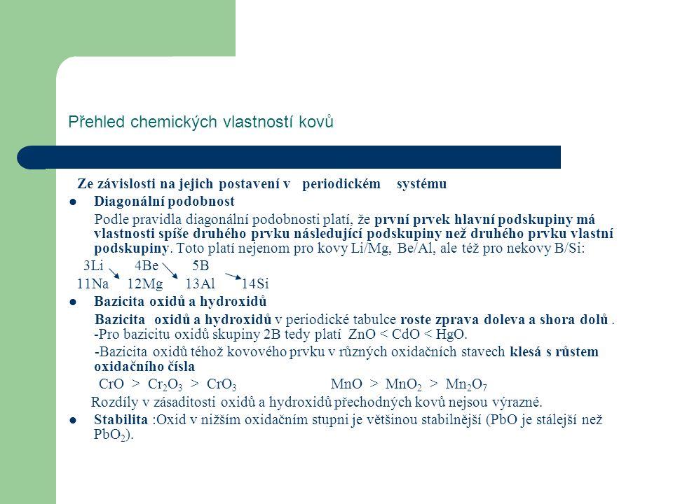 Alkalické kovy - s 1 prvky Výskyt v přírodě a výroba Na kamenná sůl (halit) NaCl, soda Na 2 CO 3 ∙10H 2 O, mirabilit (Glauberova sůl) Na 2 SO 4 ∙10H 2 O, borax Na 2 B 4 O 7 ∙10H 2 O, mořská voda (obsahuje průměrně 2,7 hmotn.