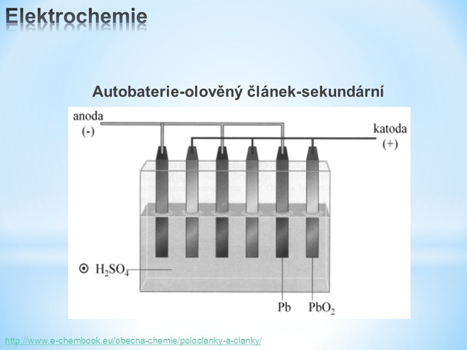 Autobaterie-olověný článek-sekundární http://www.e-chembook.eu/obecna-chemie/poloclanky-a-clanky/