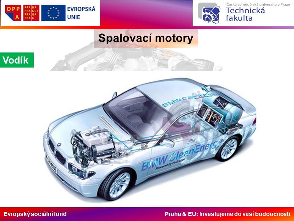 Evropský sociální fond Praha & EU: Investujeme do vaší budoucnosti Spalovací motory Vodík