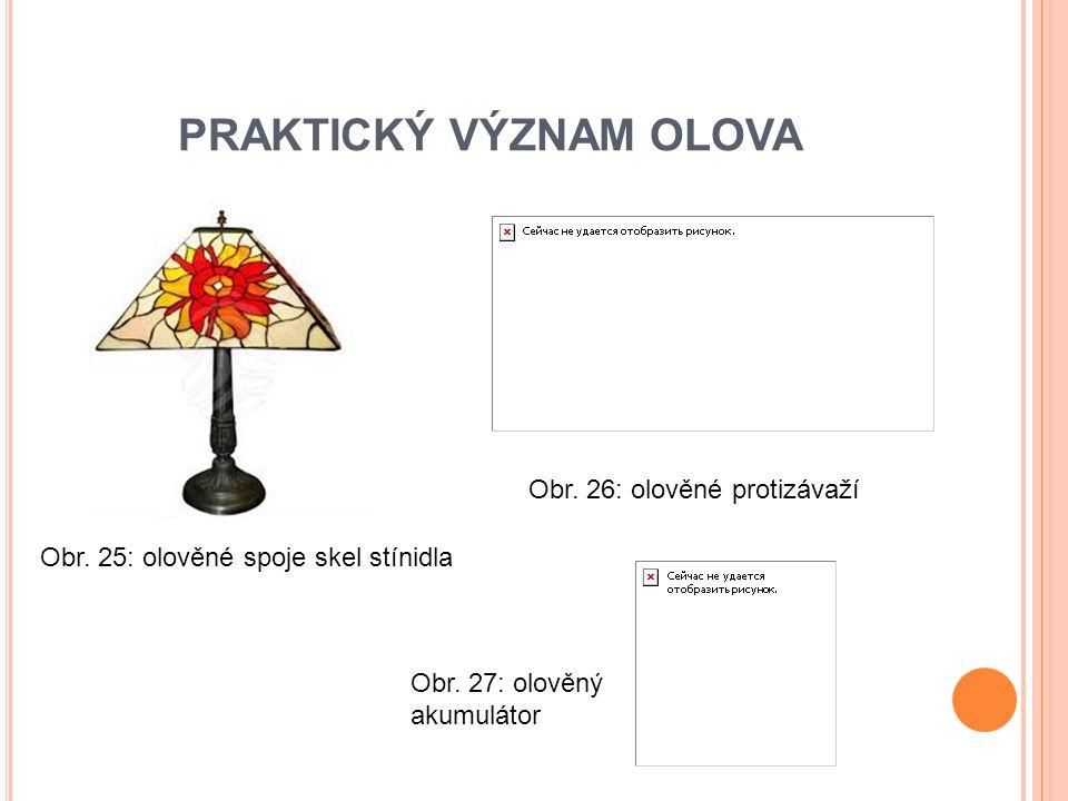PRAKTICKÝ VÝZNAM OLOVA Obr. 25: olověné spoje skel stínidla Obr.
