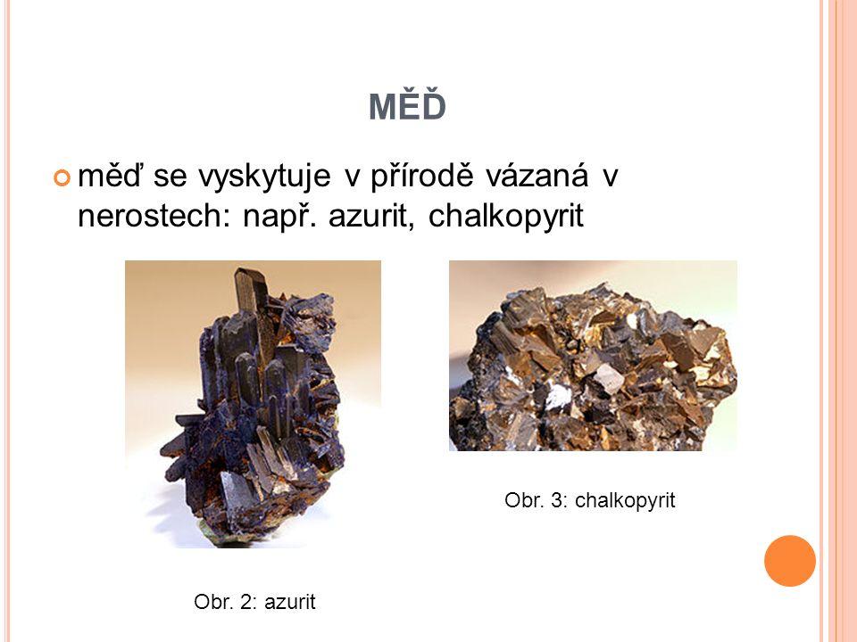 KOROZE MĚDI koroze mědi: na povrchu vytváří nazelenalou vrstvu měděnky (působením oxidu uhličitého) Obr.