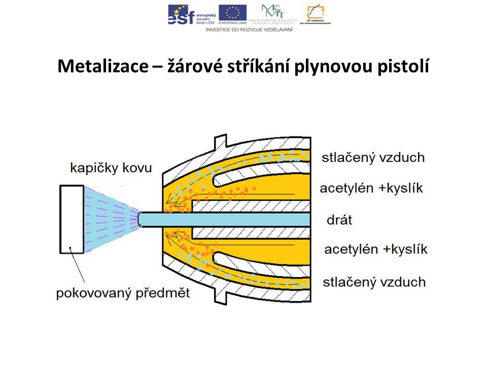 Metalizace – žárové stříkání plynovou pistolí