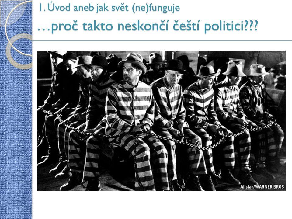 …proč takto neskončí čeští politici 1. Úvod aneb jak svět (ne)funguje