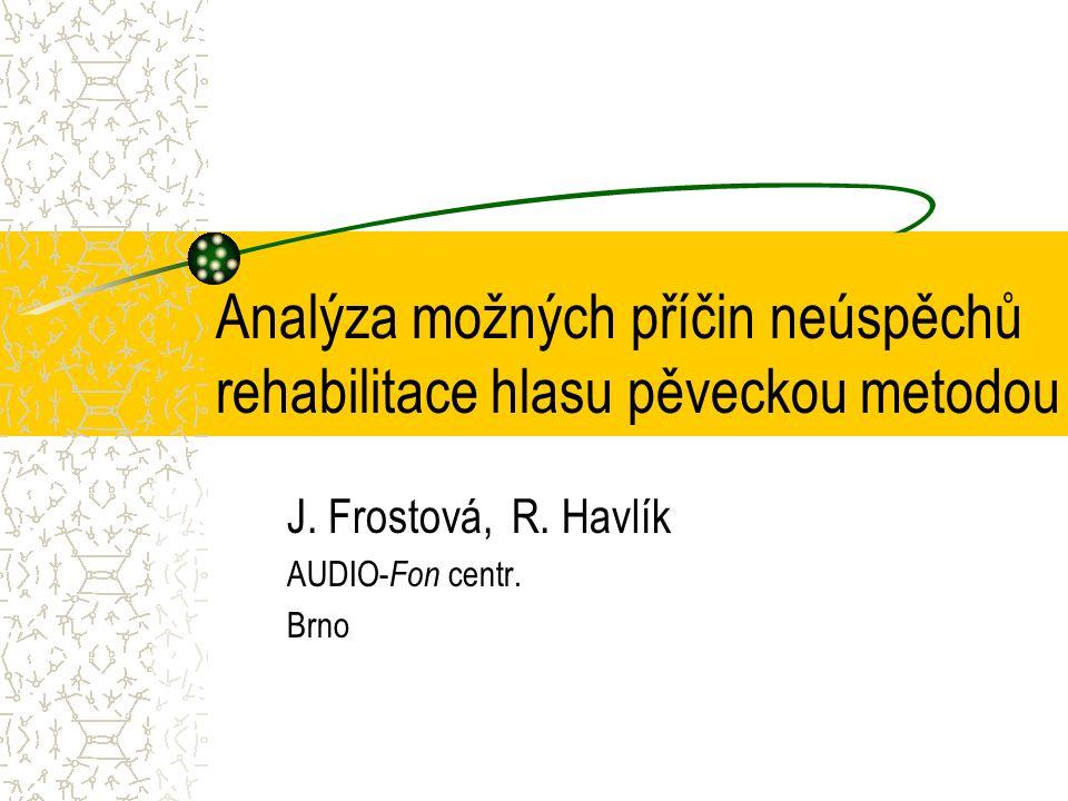 Analýza možných příčin neúspěchů rehabilitace hlasu pěveckou metodou J.