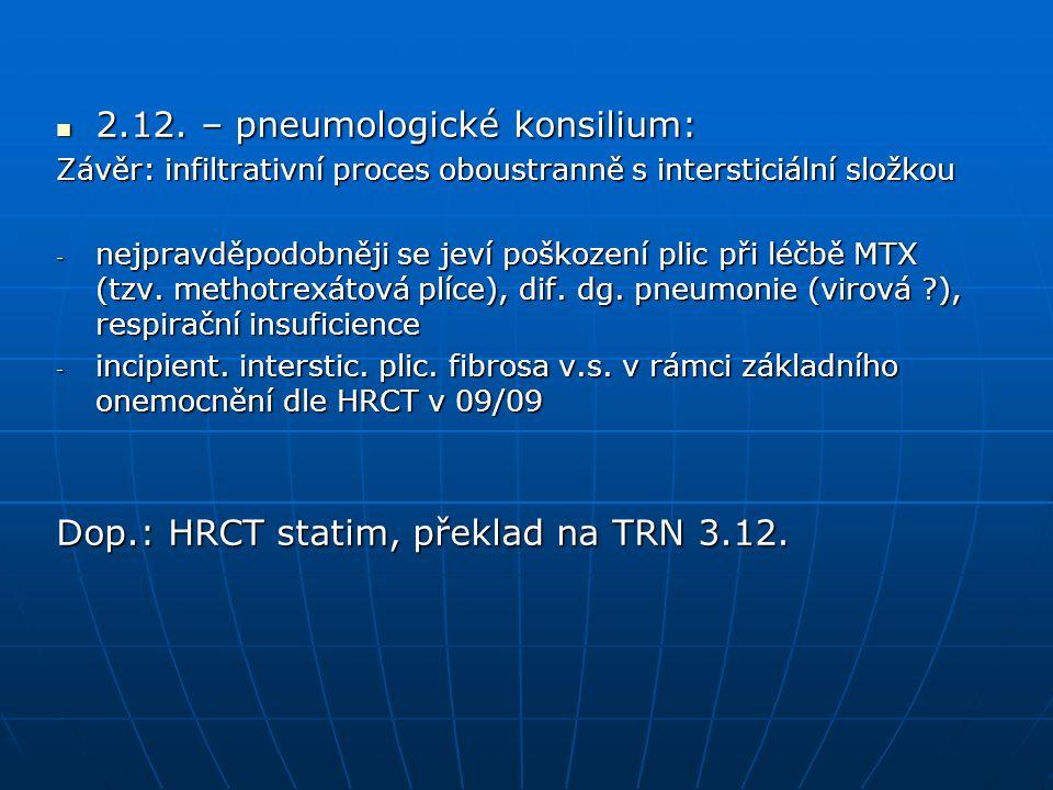 HRCT plic 3.12.: HRCT plic 3.12.: