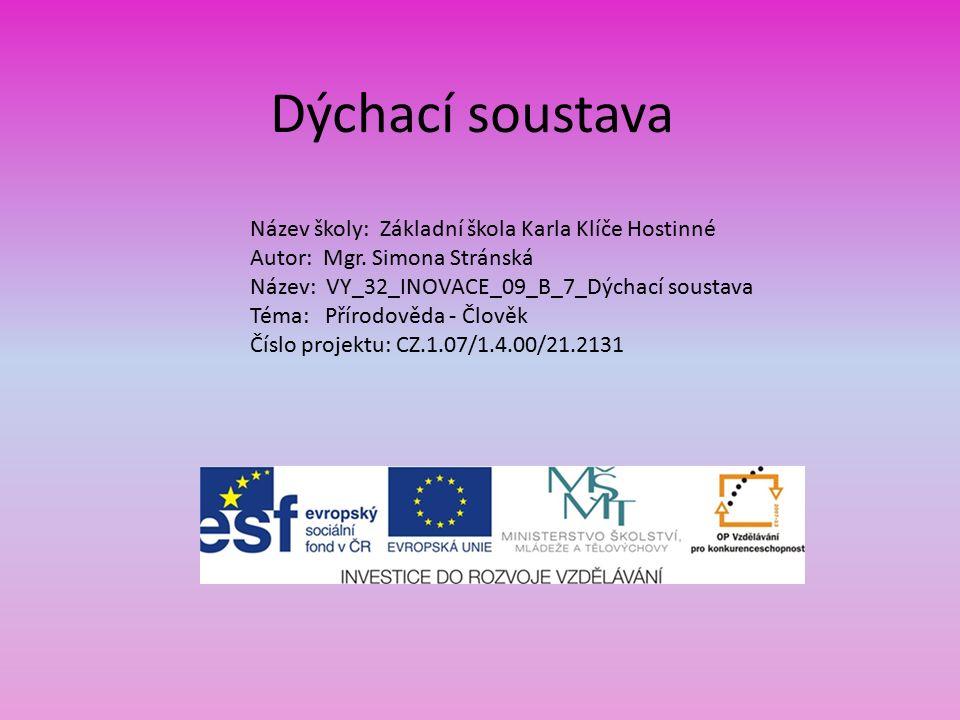 AutorMgr.Simona Stránská Vytvořeno dne20. Ledna 2012 Odpilotováno dne26.