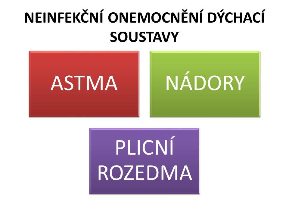 NEINFEKČNÍ ONEMOCNĚNÍ DÝCHACÍ SOUSTAVY ASTMANÁDORY PLICNÍ ROZEDMA