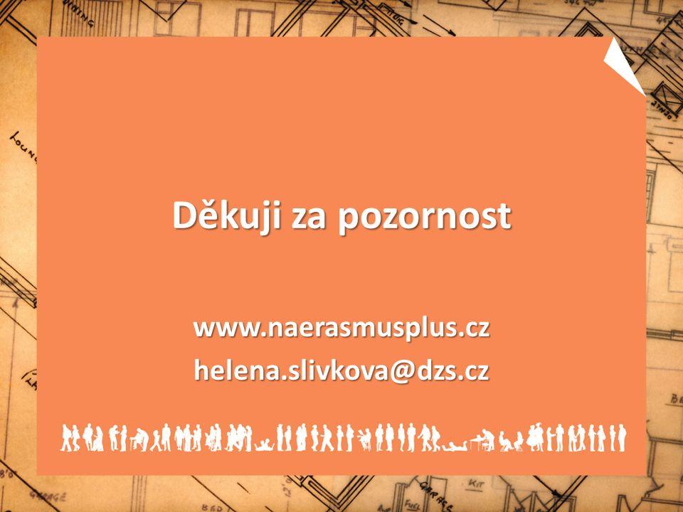 Děkuji za pozornost www.naerasmusplus.czhelena.slivkova@dzs.cz