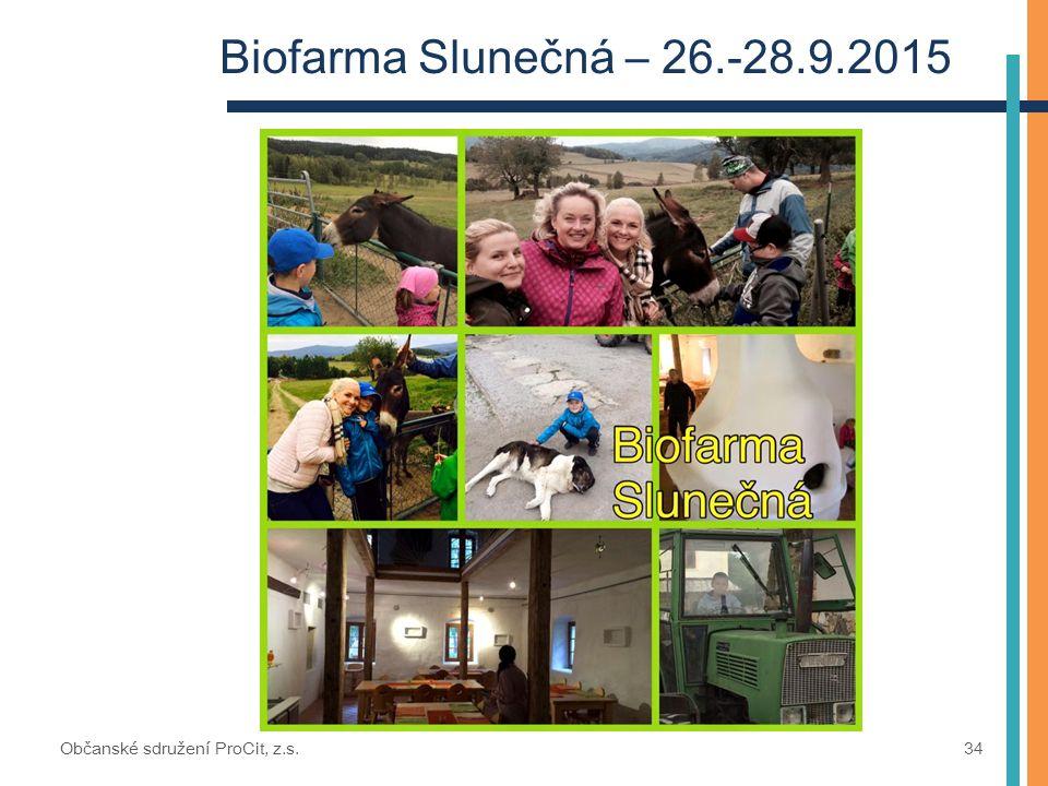 Biofarma Slunečná – 26.-28.9.2015 Občanské sdružení ProCit, z.s. 34