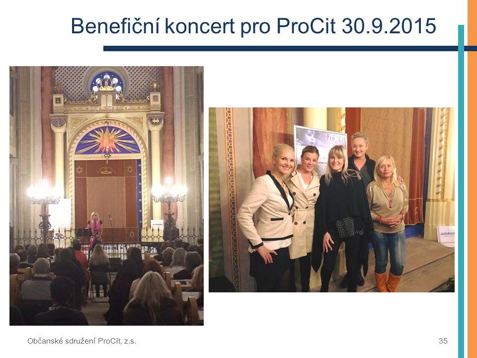 Benefiční koncert pro ProCit 30.9.2015 Občanské sdružení ProCit, z.s. 35