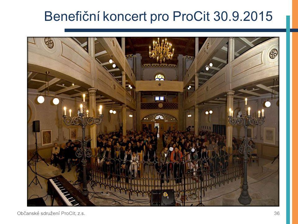 Benefiční koncert pro ProCit 30.9.2015 Občanské sdružení ProCit, z.s. 36