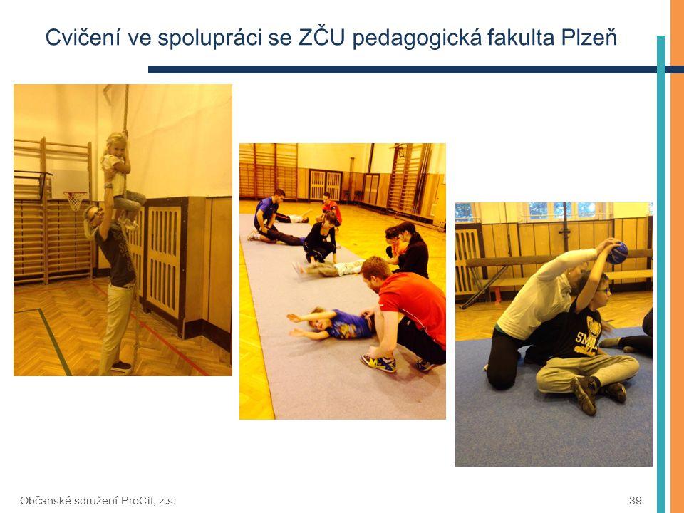 Cvičení ve spolupráci se ZČU pedagogická fakulta Plzeň Občanské sdružení ProCit, z.s. 39