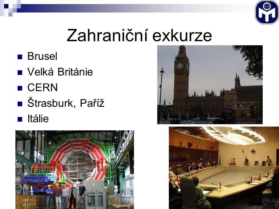 Zahraniční exkurze Brusel Velká Británie CERN Štrasburk, Paříž Itálie