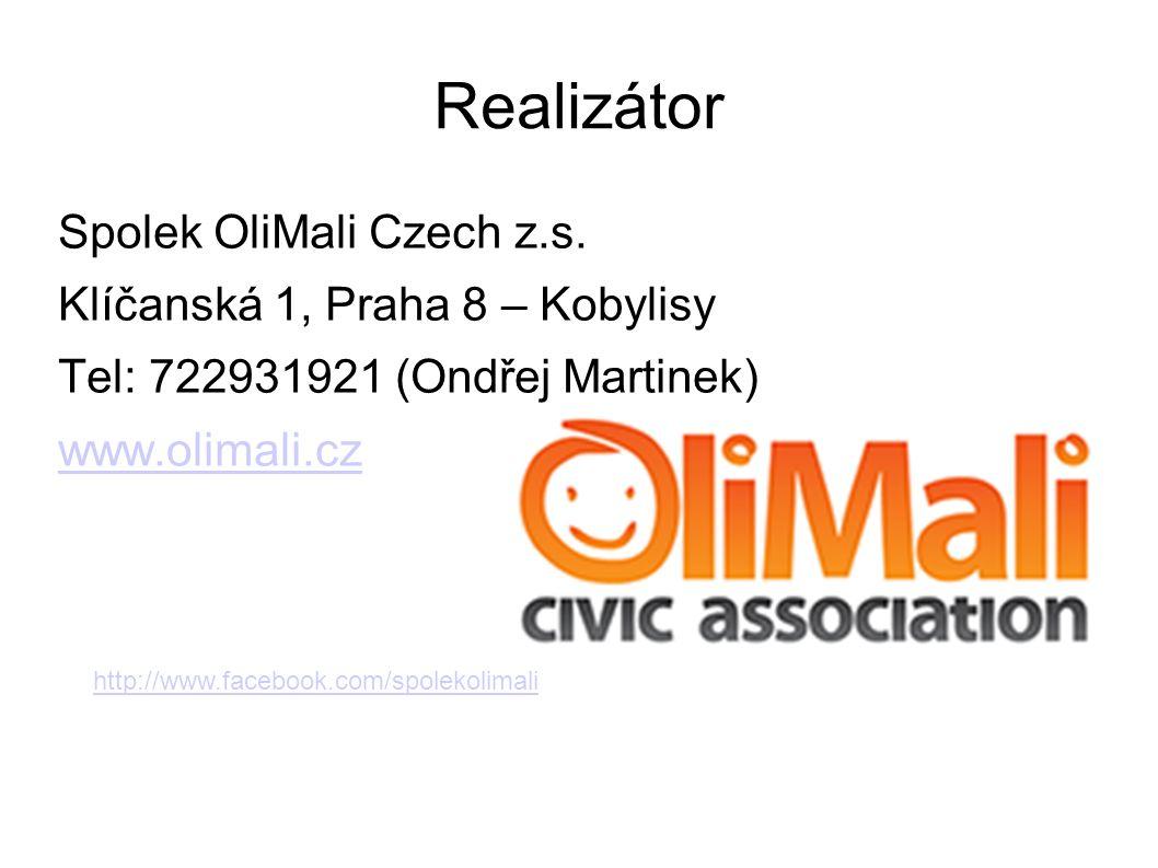 Realizátor Spolek OliMali Czech z.s.
