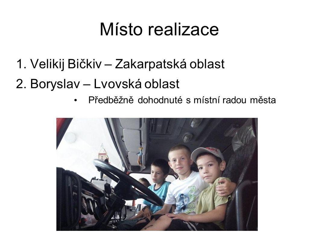 Místo realizace 1. Velikij Bičkiv – Zakarpatská oblast 2.