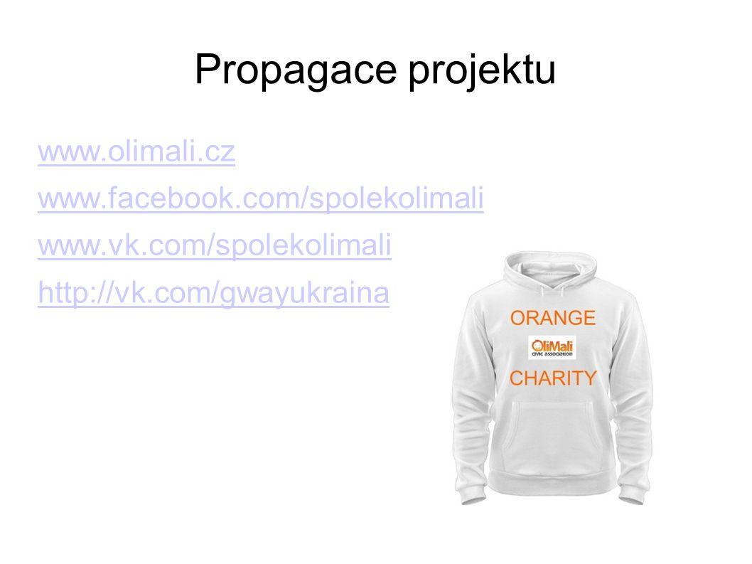 Propagace projektu www.olimali.cz www.facebook.com/spolekolimali www.vk.com/spolekolimali http://vk.com/gwayukraina