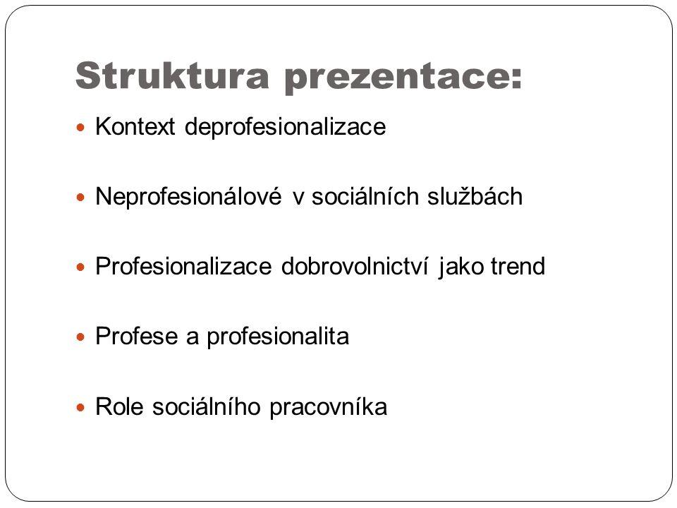 Profesionalita: širší definice profesionality – uplatňování specifických dovedností založených na jasně definované soustavě znalostí, a to v souladu s uznávanými normami chování dimenze: personální – odborní – etická nový profesionalismus