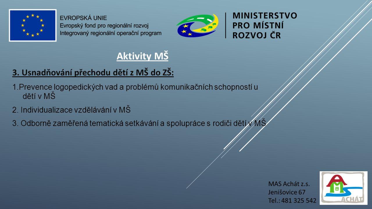 Aktivity MŠ 3.